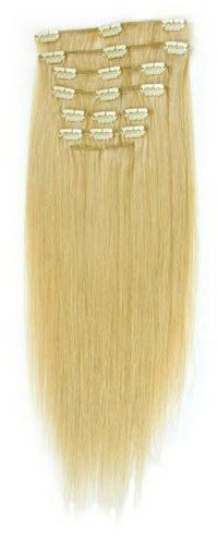 Накладные пряди блонд